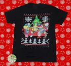 New Nickelodeon 90s Line Up Vintage Retro Christmas Ugly Sweater Mens T-Shirt image