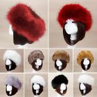 Winter Warm Faux Fox Fur Hat Male Fur Cap Men Women Soft Ski Cap Hat Headdress
