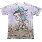 Betty Boop/Fairy (Front/Back Print) Adult Poly/Cotton Short Sleeve Tee in White $45.94 USD