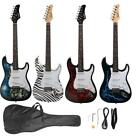 New Glarry 4 Color ST-E Basswood 22 Frets Electric Guitar +Gigbag +Strap +Pick