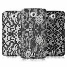 HEAD CASE DESIGNS BLACK LACE HARD BACK CASE FOR LG G PRO LITE / D680 / D682TR