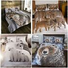 Photographic Winter Animals Duvet Cover Bedding Sets - Single, Double or King