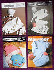 Various Baby's Knitting Patterns Sweaters Bonnets - Choose from Drop-down Menu