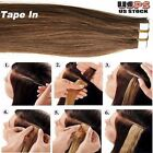 Glue Tape In Seamless Skin Weft Remy Human Hair Extension...