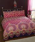 Asian Indian Style Asha Duvet / Quilt Cover Bedding Sets - 3 x Colours Available