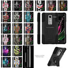 For LG Zero F620 Hybrid Dual Layer Protective Armor Case w/ Built-in Kickstand