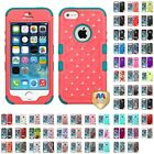Внешний вид - For Apple iPhone 5/5S/SE Hybrid TUFF IMPACT Phone Case Hard Rugged Cover