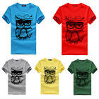 Summer Fashion New Smart Mens Boys Unisex Casual Short Sleeve T-shirt Plus Tops