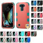 For LG K10 Premier LTE Hybrid TUFF IMPACT Phone Case Hard Rugged Cover