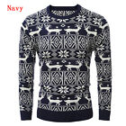 Mens Warm Chirstmas Sweater Pullover Jumpers Knitwear Knitted Coat Jacket Tops