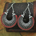 1pair Women Braided Rope Hollow Carved Alloy Earrings Ear Stud Jewelry