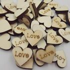 50pcs Wooden Buttons Lovely Heart Shape Letters Printing Cloths Sewing Crafts