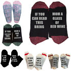One Pair Women Men Sock Custom wine socks If You can read this Bring Me a Glass