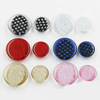 10pcs Resin Button Round Glitter Clear Coat Sewing Craft DIY Accessories 15 21mm