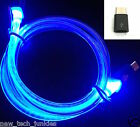 3FT GLOW LED Light-up Power Charger Data Sync Cable for Samsung S6 S7+ Micro USB