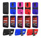 For ZTE Grand X 4 X4 Heavy Duty Hard Hybrid Armor Case Cover w/ Screen Protector