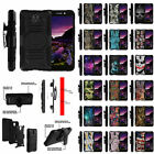 For ZTE Chapel 831 Heavy Duty Dual Layer Protective Clip Case with Kickstand