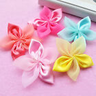 20pcs Satin Ribbon Flowers Hair Bows Appliques Craft Wedding Decoration DIY