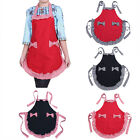 Women Cooking Kitchen Restaurant Bib Apron Solid New Dress with Pocket Gift 1