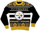 Adult NFL Football Pittsburgh Steelers Big Logo Black Ugly Christmas Sweater $8.0 USD on eBay