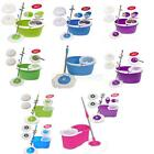 Microfiber Magic Mop with Bucket 2 Heads Rotating 360°Easy Floor Spining Spining