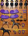 U CHOOSE Playmobil figures Horse Blanket shield sword King Castle PURPLE KNIGHTS