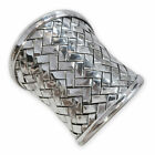 Silber Ring 925 Karen Hill Tribe xxl wide ethno boho vintage jewelry women braid