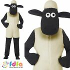 SHAUN THE SHEEP JUMPSUIT ONESIE + HEAD Age 4-9 Boys Childs Fancy Dress Costume