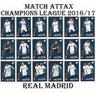 REAL MADRID Match Attax Champions League 2017 card 2016/17