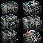 Clear Acrylic Makeup Cosmetic Organizer Case Jewelry Display Holder Storage Box