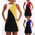 New Women Party Cocktail Party Maxi Dress Summer Bump Geometry Stitching Dress