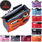 2x Makeup Bag Women Travel Insert Handbag Organiser Purse Large Tidy Bag Colors@