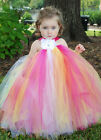 Girls bridesmaid dress flower girl occasion Wedding princess bridal Summer Pink