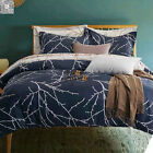 New Duvet/Doona/Quilt Cover Set Reversible King Queen Double Size Bed Leaves
