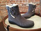 Clarks Bendables Madi Grey Suede Bow Ankle Boots New