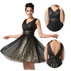 SEQUINS Short Mini Formal Women Prom COCKTAIL Ball Gown Bridesmaid Party Dress