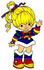 "7-11"" RAINBOW BRITE  WALL SAFE STICKER BORDER CUT OUT"