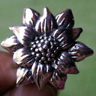 WOW SUNFLOWER RING  STERLING SILVER Size.US=7 UK=N Circumference=54mm.