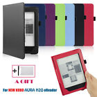 Magnetic Leather Cover Case For KOBO AURA H2O eReader+HD Screen Film+TOUCH PEN