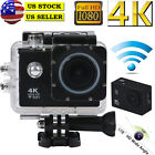 4K 2'' Ultra HD 1080P Sports WiFi Cam Action Camera DV HDMI Video Recorder US