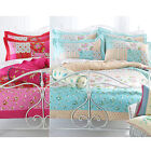 Patchwork Chic Duvet Cover With Florals &  Polka Dot In Luxury 100% Cotton