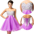 SEXY Short Wedding Bridesmaid Dresses Cocktail Party Prom Ball Evening Dress 14