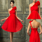 SEXY Women Short Mini Bridemaid Dress RED Evening Prom Gown Homecoming Dresses 6