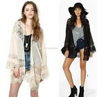 Boho Hippie Chiffon Womens Kimono Cape Loose Cardigan Jacket Blouse Tops EN24H
