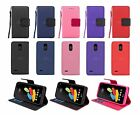 For LG Stylo 3 / Stylus 3 Premium Leather Wallet Case w/ Card Holder & Strap