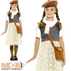 WW2 Evacuee Girls Fancy Dress History Britain World War II Childrens Kid Costume