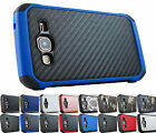 Samsung Galaxy J3 2016 Amp Express Prime Sky Impact Rugged Case Hybrid Cover+Pry