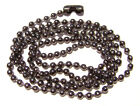"Necklace Ball Chain 2.4mm  Gunmetal Black color,  16"" to 26"",  1 or 5 Qty"