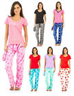 Ashford & Brooks Women's T-Shirt & Coral Fleece Pants Pajama Set with Eye Mask