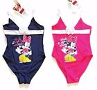 New Girls Minnie Mouse Disney Swim Suit Swimming Costume Ages 2 3 4 5 6 7 8